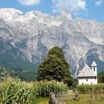 Church in Theth village, Prokletije mountains, Alb...