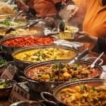 Takeaway Indian food at London market...