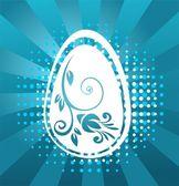 Velikonoční vajíčko s modrým vzorem