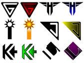 Superhero or athletics symbols