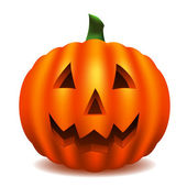 Isolated pumpkin carved with traditional face (contains gradient mesh)