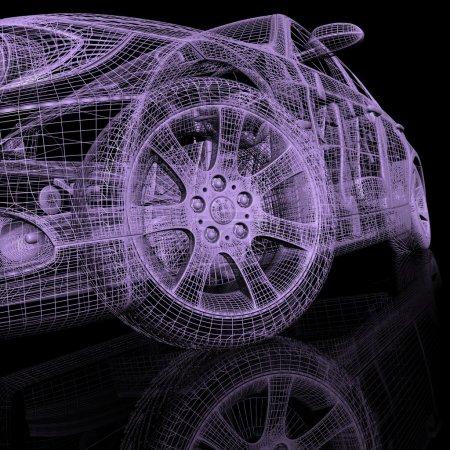 Photo pour Voitures de modèle 3D - image libre de droit