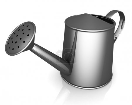 Watering can on white background.