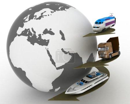 Conception of transport transportations