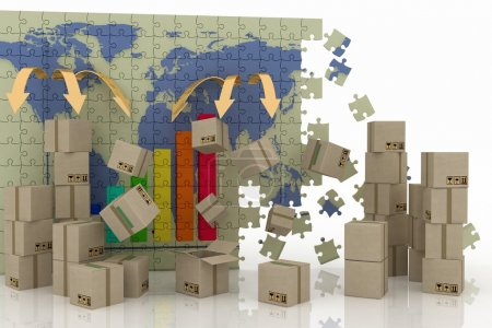 Photo for Conception of world trade. 3d concept of logistic. - Royalty Free Image