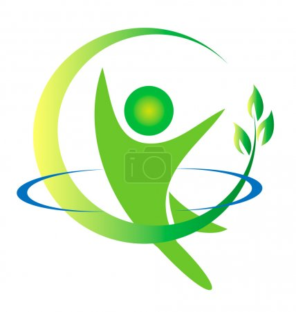 Illustration for Health nature logo vector - Royalty Free Image