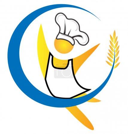 Chef figure logo vector