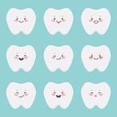šťastný zuby