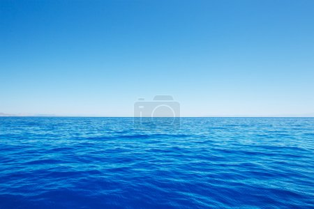 Photo for Empty Blue Ocean and Blue Sky - Royalty Free Image