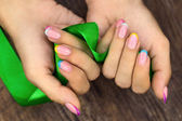 Manicures and ribbon