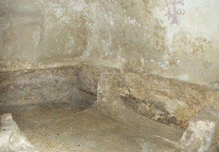Inside Jeus tomb Israel Jerusalem