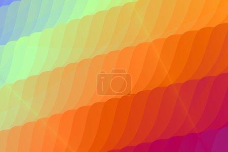 Photo pour Un spectre principalement orange de nuances abstraites pièce à motifs fond éclairé. Il y a violet et les nuances de vert clair et bleu dans les coins. Ceci peut être utilisé comme un arrière-plan ou un papier peint. - image libre de droit