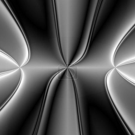 Photo pour Fond d'écran fond brillant foncé et clair avec un aspect métallique à la texture de cette œuvre d'art abstrait. - image libre de droit