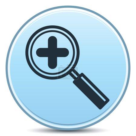 Photo pour Vecteur augmentant le grossissement plus bouton mat. EPS10. - image libre de droit