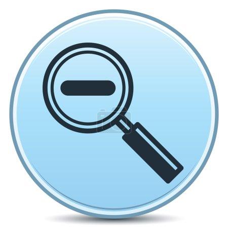 Photo pour Vecteur diminuant grossissement bouton mat signe moins. EPS10. - image libre de droit