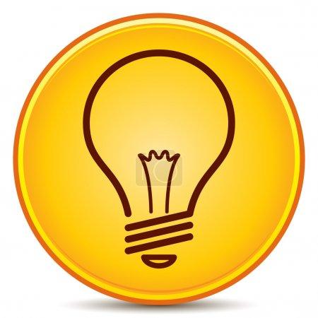 Photo pour Bouton mat icône ampoule de vecteur. EPS10. - image libre de droit