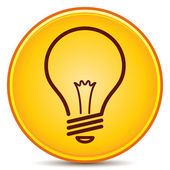 Vector Light Bulb Icon Matte Button EPS10