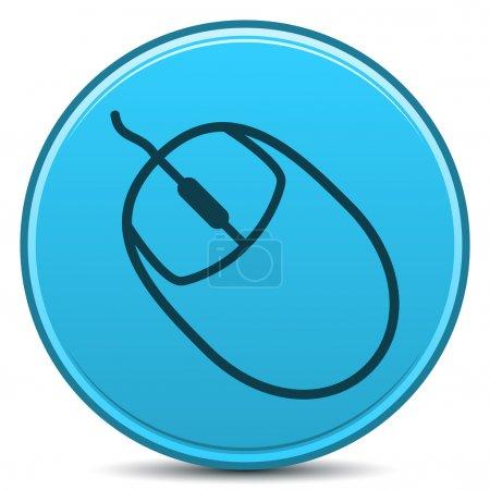 Photo pour Vecteur ordinateur souris mat icône. EPS10. - image libre de droit