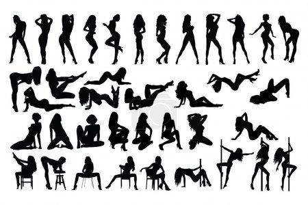 Illustration pour Femme dansante - image libre de droit
