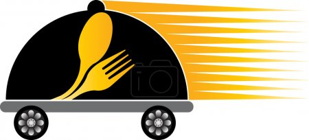 Fast delivery cooking logo