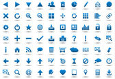Set of blue navigation web icons