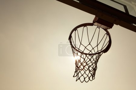 Silhouette of Basketball Basket