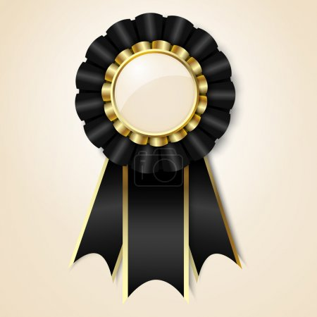 Black vecor prize ribbon