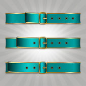 Belts with buckle illustration of slimming process