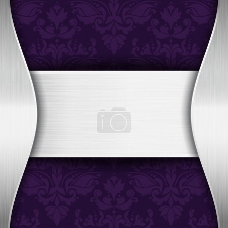 Silver and purple template