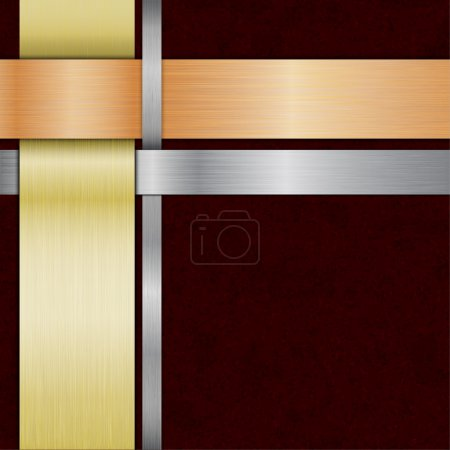 Template with metal ribbons