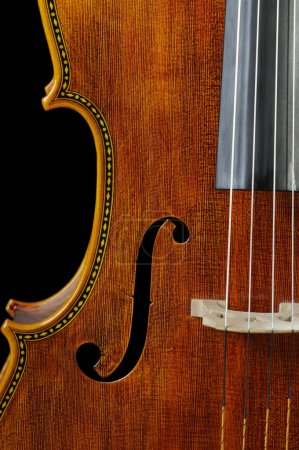 Photo pour Beau violoncelle sur un fond noir - image libre de droit