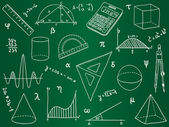 Mathematics - school supplies geometric shapes and expressions
