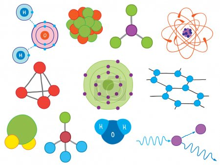 Illustration of atoms and molecules