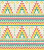 Aztec pattern in pastel tints