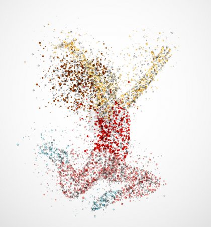 Illustration for Abstract image of a dancing girl from the circles. Eps 10 - Royalty Free Image