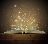 Open magic book with the light Eps 10