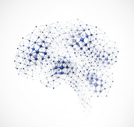 Illustration for Abstract image of the brain of molecules. Eps 10 - Royalty Free Image