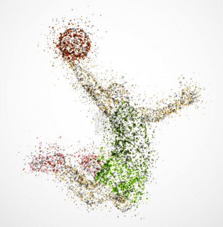 Illustration for Abstract basketball player in jump. Eps 10 - Royalty Free Image