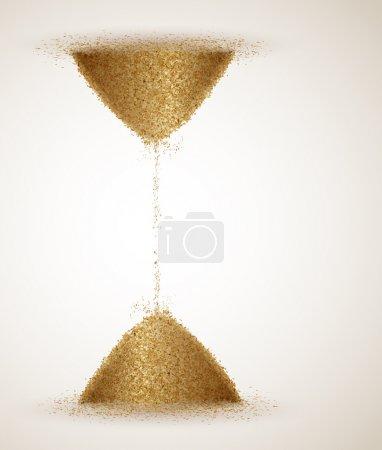 Illustration pour Sablier ou l'infini du temps. Eps 10 - image libre de droit