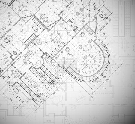 Photo for Detailed architectural plan. Eps 10 - Royalty Free Image
