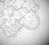 Detailed architectural plan Eps 10
