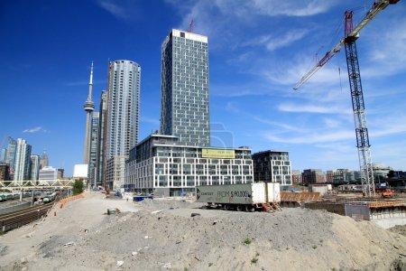 Photo pour Un chantier de construction à Toronto - image libre de droit