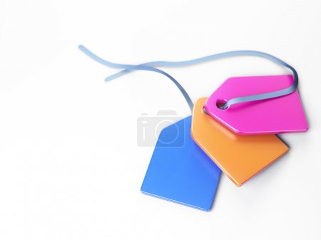 Colored plastic tags 3d model