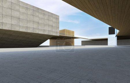 Photo pour Bâtiment moderne centre-ville, architecture futuriste. - image libre de droit