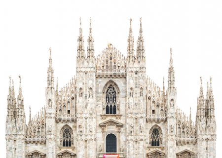 Milan Gothic Cathedral Dome Landmark upper front s...