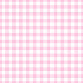 Seamless Light Pink Gingham Plaid