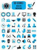 Set of medicine health icons