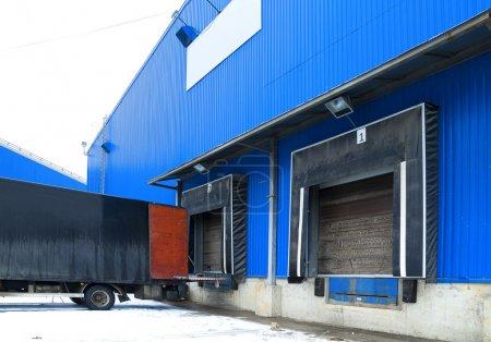 Trucks of a warehouse