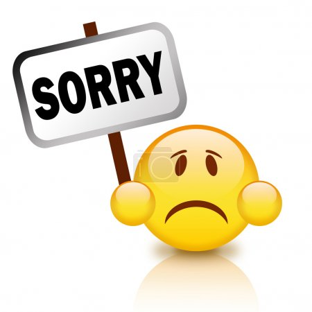Photo for Sorry sad emoticon - Royalty Free Image