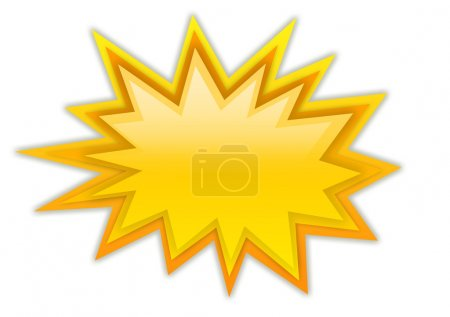 Photo for Boom splash star isolated on white - Royalty Free Image